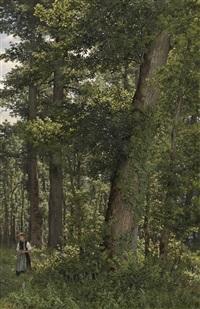 eichwald [oak forest] by robert zünd